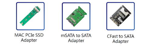 Optional Adapters - portable hybrid m.2 nvme sata ssd duplicator eraser pcie