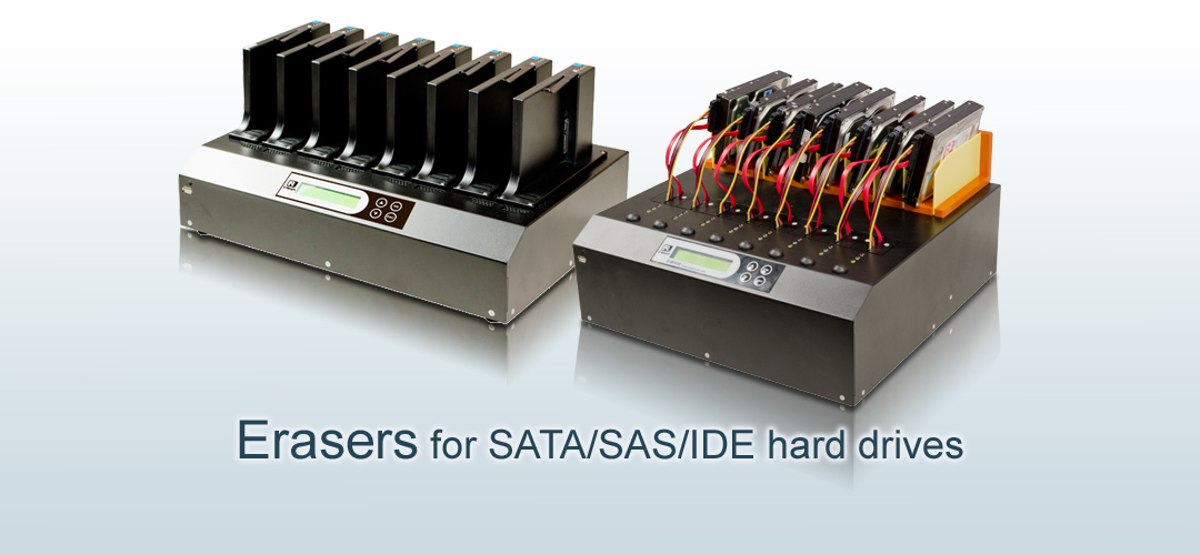 Erasers for SATA SAS IDE hard disk drives